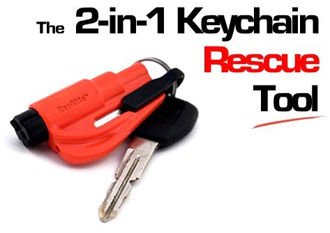 Kroll Resqme Keychain Window Breaker Rescue Seat Belt
