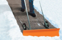Dakota SnoBlade Snow Removal Push Shovel on Wheels