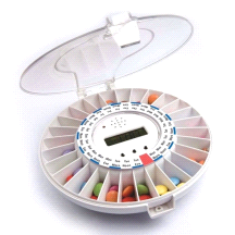Med-E-Lert Medication Pill Box Reminder Dispenser