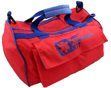 Fully Stocked First Aid Kit Responder Bag w/ Straps