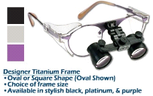 3.0xx SheerVision Titanium Ultra-Light Flip-Up Loupes