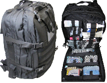Fully Stocked Stomp Medical First Aid Kit Back Pack