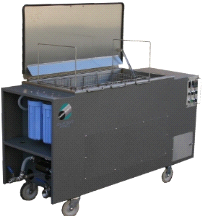 25 Gallon Omegasonics Heated Ultrasonic Cleaner