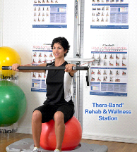 Thera-Band Professional Exercise Rehab Wellness Station