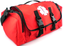 MedSource Fully Stocked EMT Paramedic Medical Cab Bag Pack