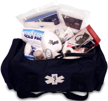 MedSource Fully Stocked EMT Paramedic Medical Attack Bag
