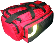 MedSource Fully Stocked EMT Paramedic Medical Deluxe O2 Bag Pack w/ O2 Tank