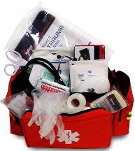 MedSource Fully Stocked EMT Paramedic Medical Basic BLS Bag