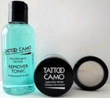 Tattoo Camo Complete Coverage Tattoo Concealer Paste Single Kit w/ Remover