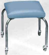 Armedica AM-844 Stainless Steel 4 Leg Cushion Mobile Stool