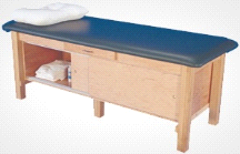 Armedica AM-612 Wood Mat Treatment Table w/ Enclosed Cabinet