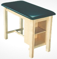 Armedica AM-624 Wood Taping Table w/ End Shelf