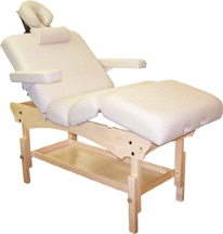 Custom Craftworks Aura Deluxe Masseuse Massage Table