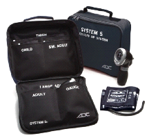 ADC System 5 Navy 740-MCC Portable 5 Cuff Blood Pressure System Kit