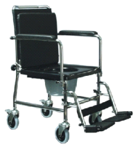 GF Health Products 6810A Versamode Drop Arm Wheelchair Commode Chair