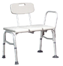 GF Health Products 7927A Maxi Drain Bathtub Assist Transfer Bench Chair