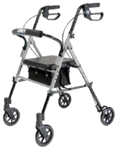 GF Health Products Lumex Set N' Go Height Adjustable Rollator Walk Assist