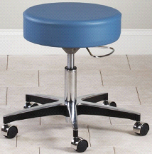 Clinton 5 Leg Pneumatic Adjustable Therapist Exam Stool Chair