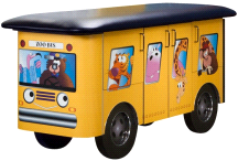 Clinton Zoo Bus Jungle Friends Pediatric Treatment Table