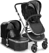 Baby Roues LeTour Lux II Lightweightt Compact Stroller w/ Bassinet
