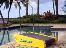 Aquabilt A-2000 Excercise Swimming Pool Aquatic Treadmill w/ Removable Handrail