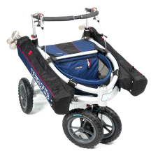 Trionic Veloped Golf Cart Outdoor Fitness Walker Medium Navy/Black/Red
