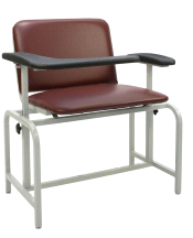 Winco 2575 Padded XL Vinyl Phlebotomy Blood Drawing Clinical Chair