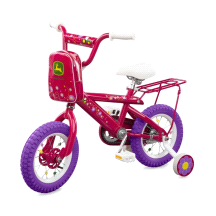 "Tomy John Deere Heavy Duty 12"" Girl's Bicycle Hot Pink"
