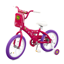 "Tomy John Deere Heavy Duty 16"" Girl's Bicycle Hot Pink"