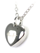 Shuzi Classic Heart Shaped Stainless Steel Fashion Pendant