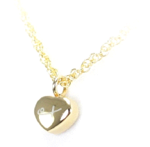 Shuzi Tiny Heart Shaped 18K Gold Plated Stainless Steel Fashion Pendant