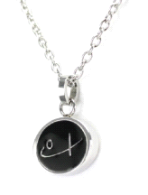Shuzi Vitality Logo Black Stainless Steel Fashion Pendant For Ladies