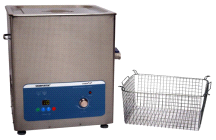 SharperTek Digital 5.3 Gallon Ultrasonic Heated Cleaner and Basket SH500-20L