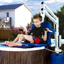 Aqua Creek Spa Lift Elite Pool Lift Chair for Elevated Pools and Spas No Anchor