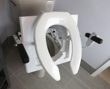EZ-ACCESS TILT Motorized Toilet Lift System Elongated Seat