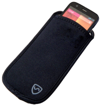 Shield Your Body LARGE Black EMF Radiation Protection Phone Pouch