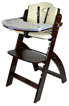 Abiie Mahogany White Beyond Junior Y High Chair
