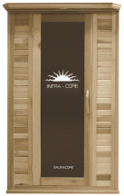 SaunaCore Horizon Purity Series 4x4 Infrared Dry Heat 120volt Sauna