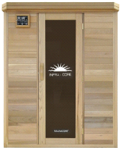 SaunaCore Horizon Purity Series 4x5 Infrared Dry Heat 120volt Sauna