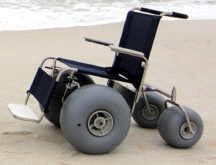 DeBug All Terrain Chair Rolling Beach Stainless Steel Wheelchair