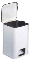 Brewer Medical White 32-Quart Hospital Waste Can