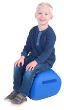 "Angeles BLUE 12"" Turtle Seat Lightweight Soft Classroom Seat"