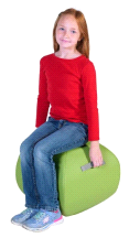 "Angeles GREEN 16"" Turtle Seat Lightweight Soft Classroom Seat"