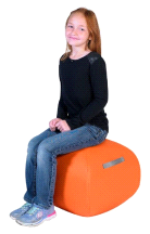 "Angeles ORANGE 16"" Turtle Seat Lightweight Soft Classroom Seat"