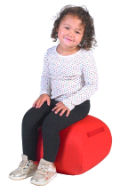 "Angeles RED 12"" Turtle Seat Lightweight Soft Classroom Seat"