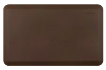 "Wellness Mats 32"" x 20"" Smart Step Suede COCOA Anti Fatigue Floor Mat"