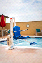 Aqua Creek Ranger 2 Lift Pool Chair Lift No Anchor and Push Button Remote Control