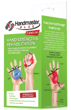 Doczac Handmaster Plus 2-Pack Physical Therapy Hand Strengthening Exerciser