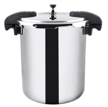 Buffalo Clad Quick Pot Stainless Steel Pressure Cooker Canner 20L