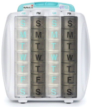 PillRite Pill Management 4 Week Pillbox Organizer System